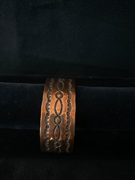 Navajo Made Copper Cuff; CCUFF-D3