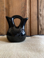 Black on Black Cedar Mesa Wedding Vase