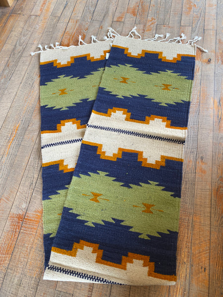 "Zapotec Handwoven Wool Runner; Approx. 15""X80"""