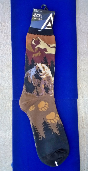Bear and bear paw socks