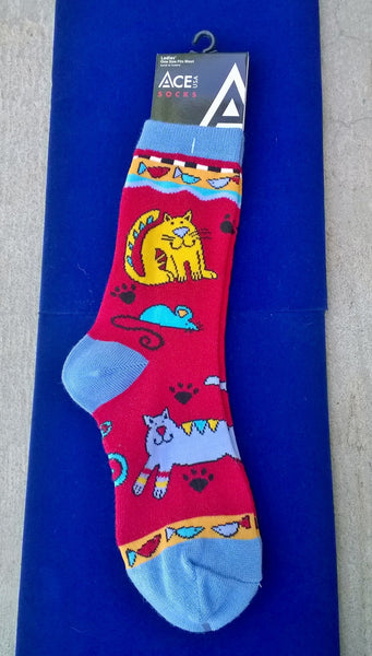 Best quality Red Cat Socks in cotton blend