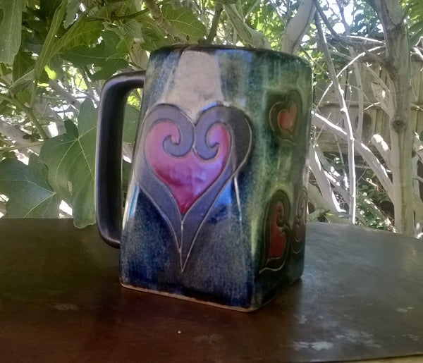 Multi dark color with heart mug