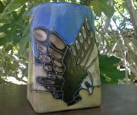 Eagle Mara Mug in lead free stoneware pottery. 12oz