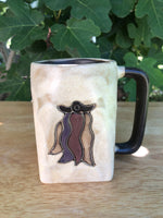 Chile Mara Mug In lead free stoneware pottery 12oz