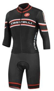 SPEED SUIT : Castelli Cross Sanremo Speed/Skin Suit with Red Trim