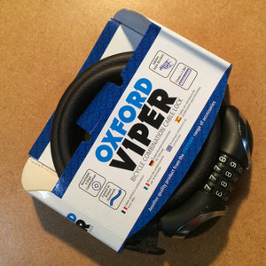 LOCK : Oxford Viper Combination Cable Lock *12