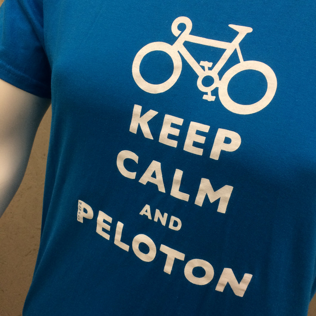 T-SHIRT : Keep Calm and Peloton Soft Style Child's T Shirt [L/9-11]