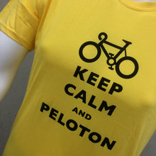 Load image into Gallery viewer, T-SHIRT : Keep Calm and Peloton Premium Cotton Men's T Shirt [S]