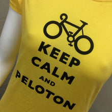 Load image into Gallery viewer, T-SHIRT : Keep Calm and Peloton Soft Style Women's T Shirt [L]