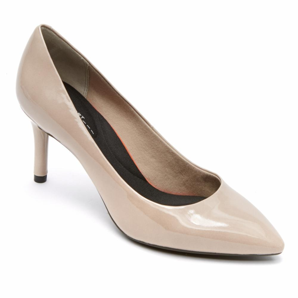 Rockport Women TOTAL MOTION 75mmPTH PLAIN PUMP WARM TAUPE