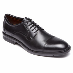 Rockport Men CITY SMART CAP TOE BLACK/LEATHER