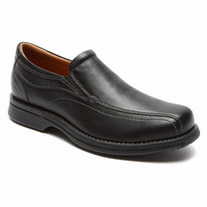 Rockport Men CLASSIC REVISED TWN GR SLIP ON BLACK/TUMBLED PULL