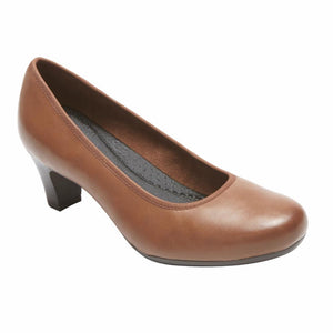 Rockport Women HEZRA PUMP ALMOND/LEATHER