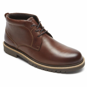 Rockport Men MARSHALL CHUKKA DK BROWN/LEATHER