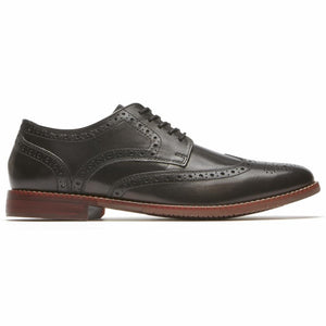 Rockport Men STYLE PURPOSE WING TIP BLACK/LEATHER 2
