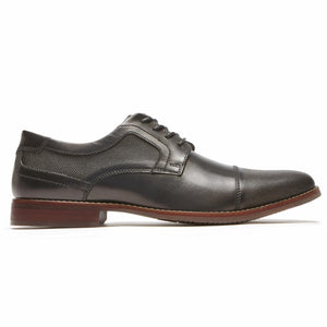 Rockport Men STYLE PURPOSE CAP BLUCHER BLACK/LEATHER