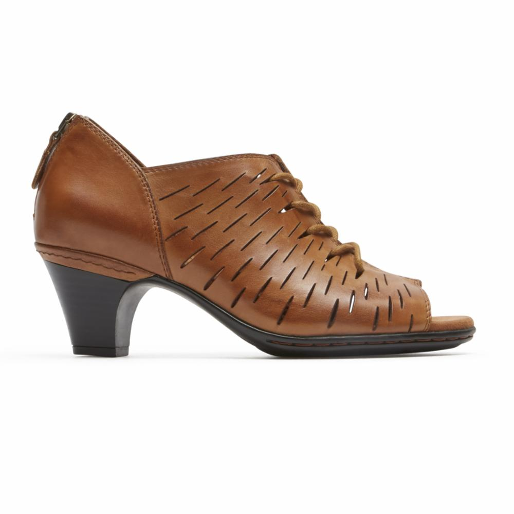 Rockport Women  PERF LACE TAN/LEATHER