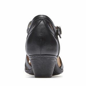 Cobb Hill ABBOTT CURVY T BLACK/LEATHER