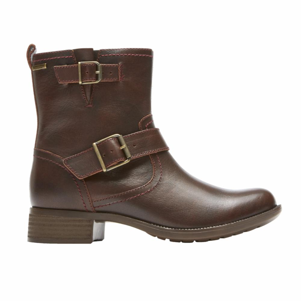 Cobb Hill COPLEY WATERPROOF BUCKLE BOOT BROWN/BRUSHOFF LEATHER