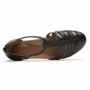 Cobb Hill GALWAY STRAPPY T BLACK/LEATHER