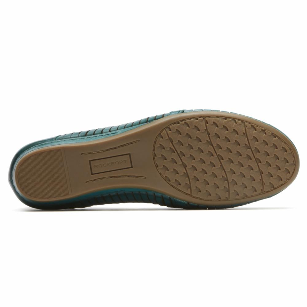 Cobb Hill GALWAY WOVN LOAFER TEAL LEATHER
