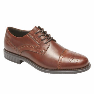 Rockport Men TOTAL MOTION CLASSIC DRESS CAP TOE NEW BROWN