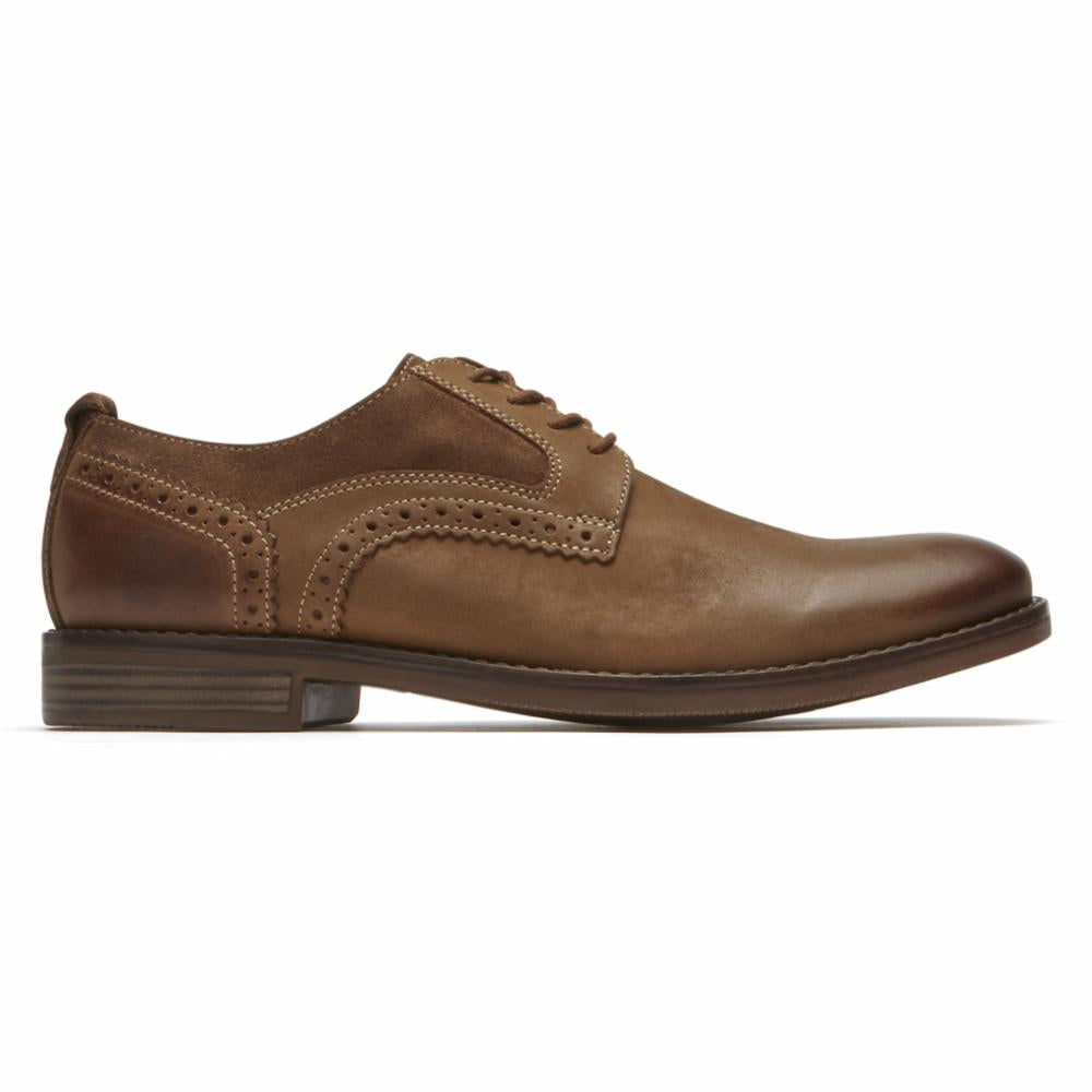 Rockport Men WYNSTIN PLAIN TOE TOBACCO