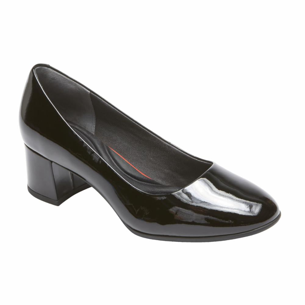 Rockport Women TOTAL MOTION NOVALIE PUMP BLACK/PATENT