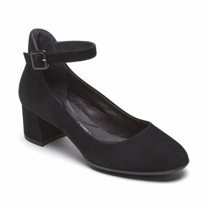 Rockport Women TOTAL MOTION NOVALIE ANKLE STRAP BLACK
