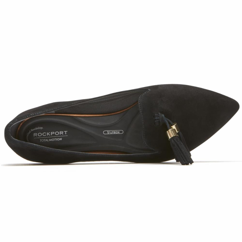 Rockport Women TOTAL MOTION ZULY LUXE LOAFER BLACK/SUEDE