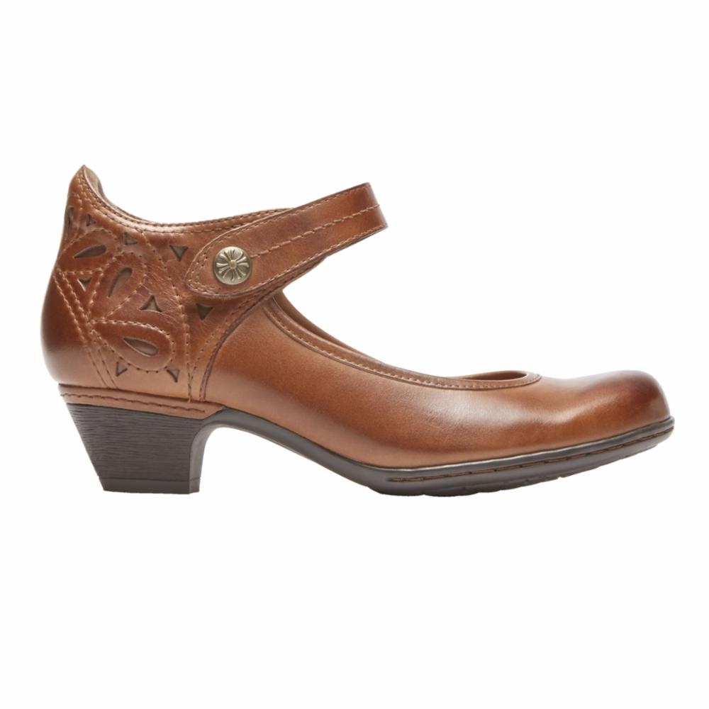 Cobb Hill ABBOTT ANKLE STRAP ALMOND/LEATHER