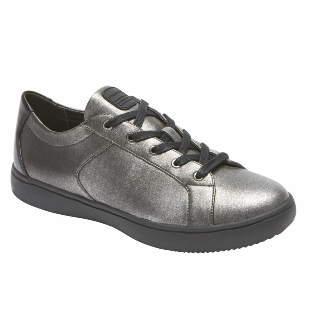 Rockport Women ARIELL LACE TO TOE PEWTER