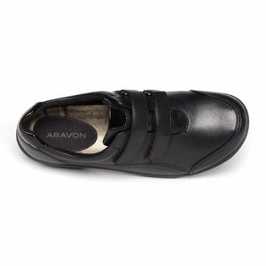 Aravon BROMLY DBL STRAP BLACK/LEATHER