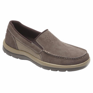 Rockport Men GET YOUR KICKS GORE SLIP ON CHOCOLATE/NUBUCK