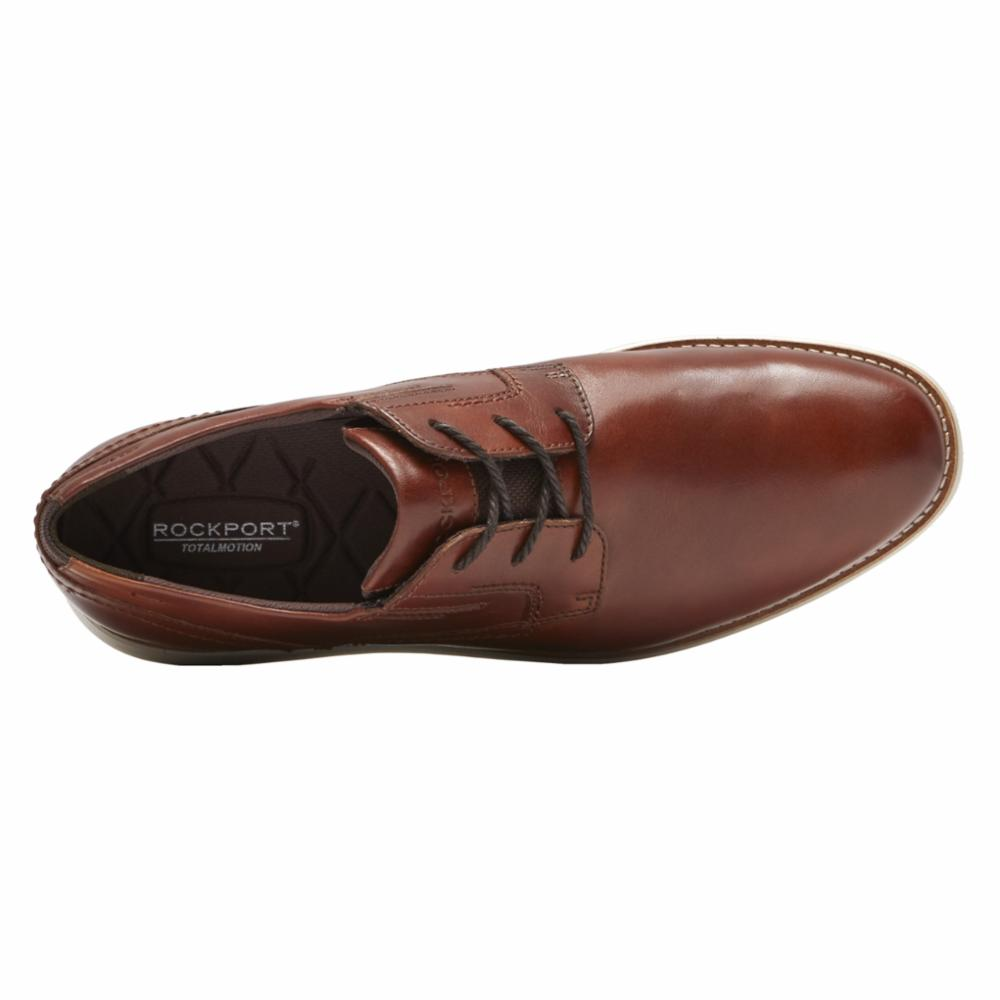 Rockport Men TOTAL MOTION SPORT DRESS PLAIN TOE TAN/LEATHER