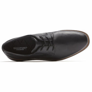 Rockport Men TOTAL MOTION SPORT DRESS PLAIN TOE BLACK/LEATHER