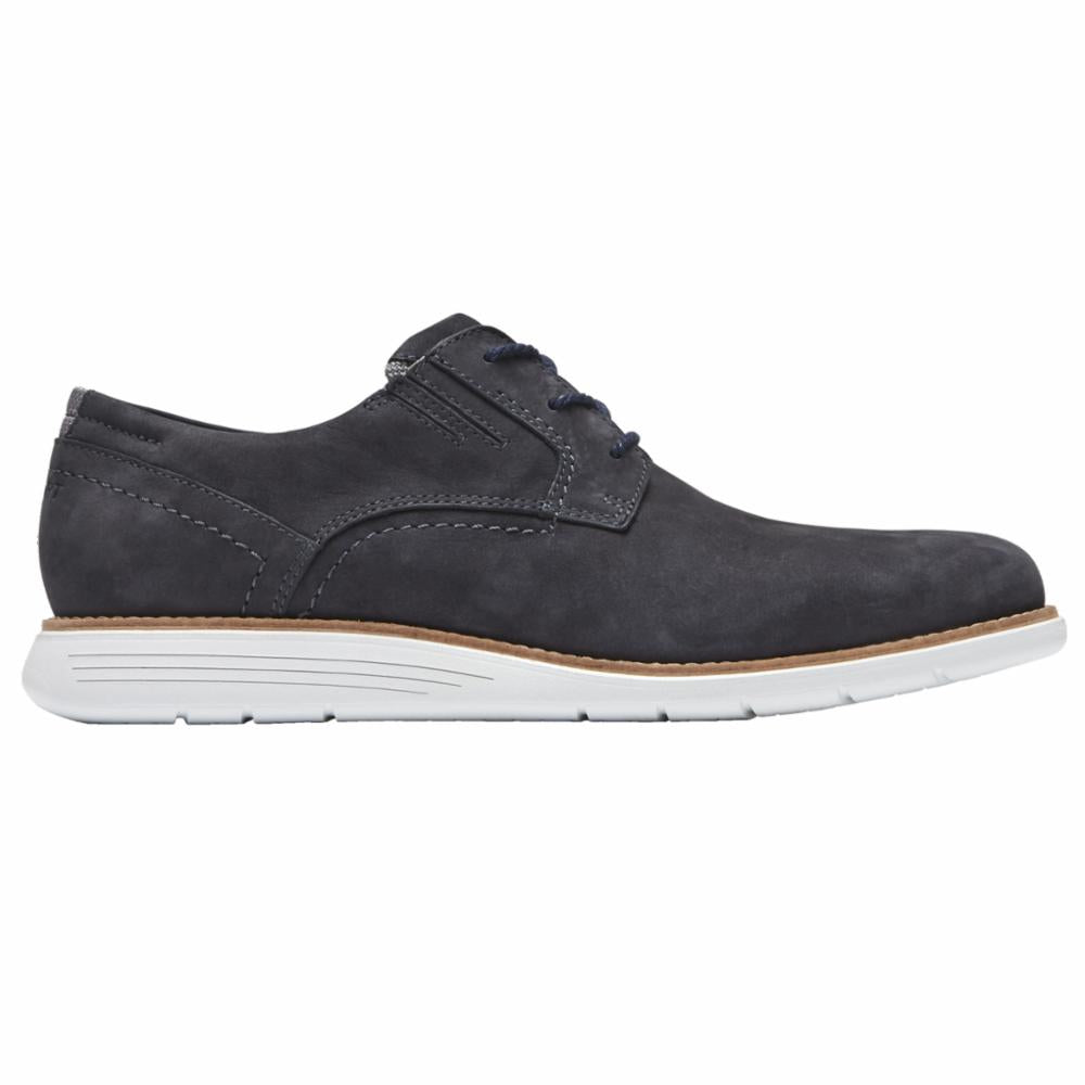 Rockport Men TOTAL MOTION SPORT DRESS PLAIN TOE NEW DRESS BLUES/NUBUCK