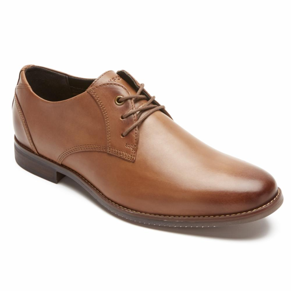 Rockport Men STYLE PURPOSE BLUCHER COGNAC/LEATHER