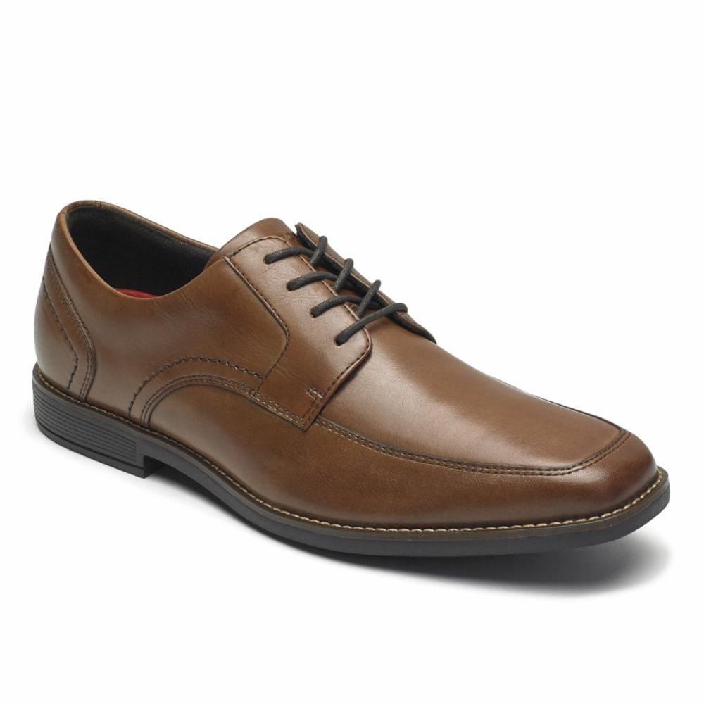 Rockport Men SLAYTER APRON TOE COGNAC