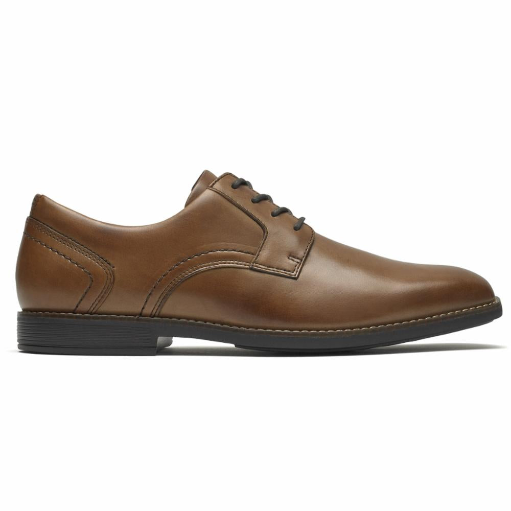 Rockport Men SLAYTER PLAIN TOE COGNAC