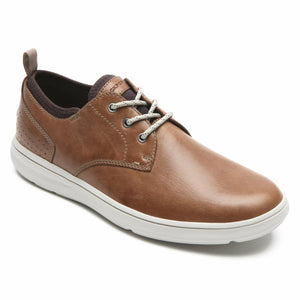 Rockport Men ZADEN PLAIN TOE OX BOSTON/TAN LEATHER