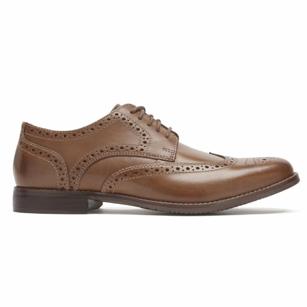 Rockport Men SYMON WING TIP COGNAC
