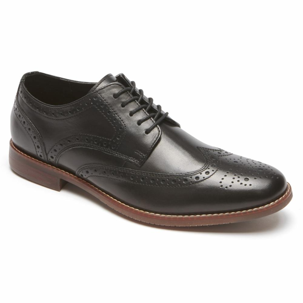 Rockport Men SYMON WING TIP BLACK