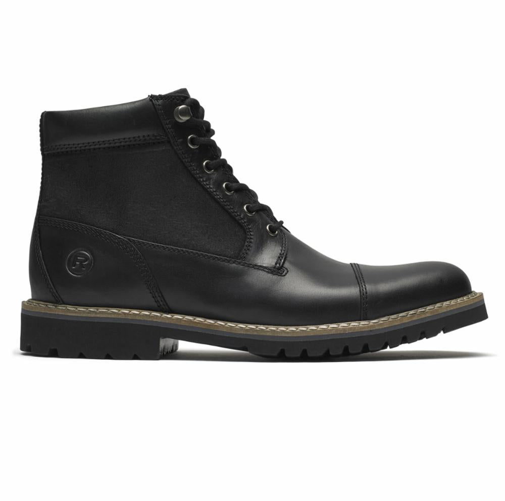 Rockport Men MARSHALL RUGGED CAP TOE BLACK