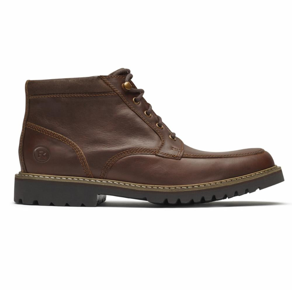 Rockport Men MARSHALL RUGGED MOC TOE SADDLE BROWN