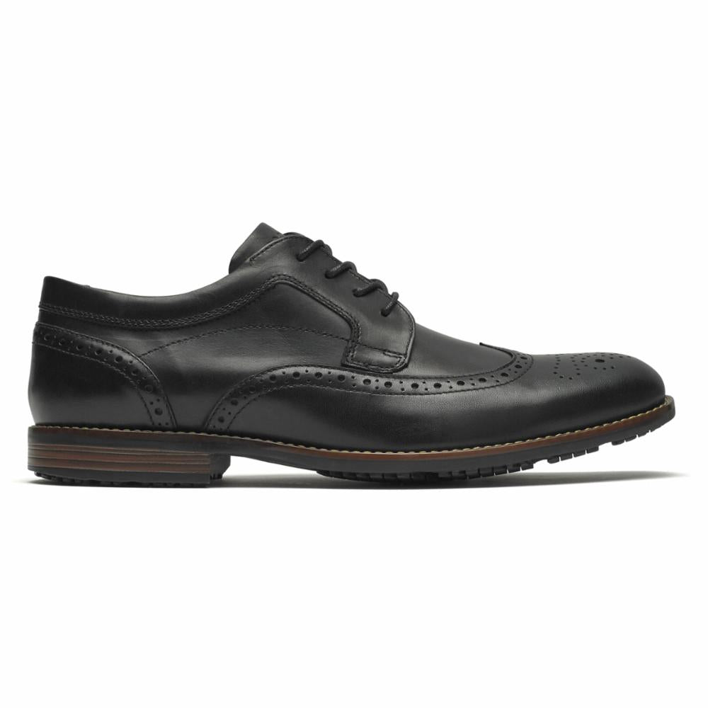 Rockport Men DUSTYN WINGTIP BLACK