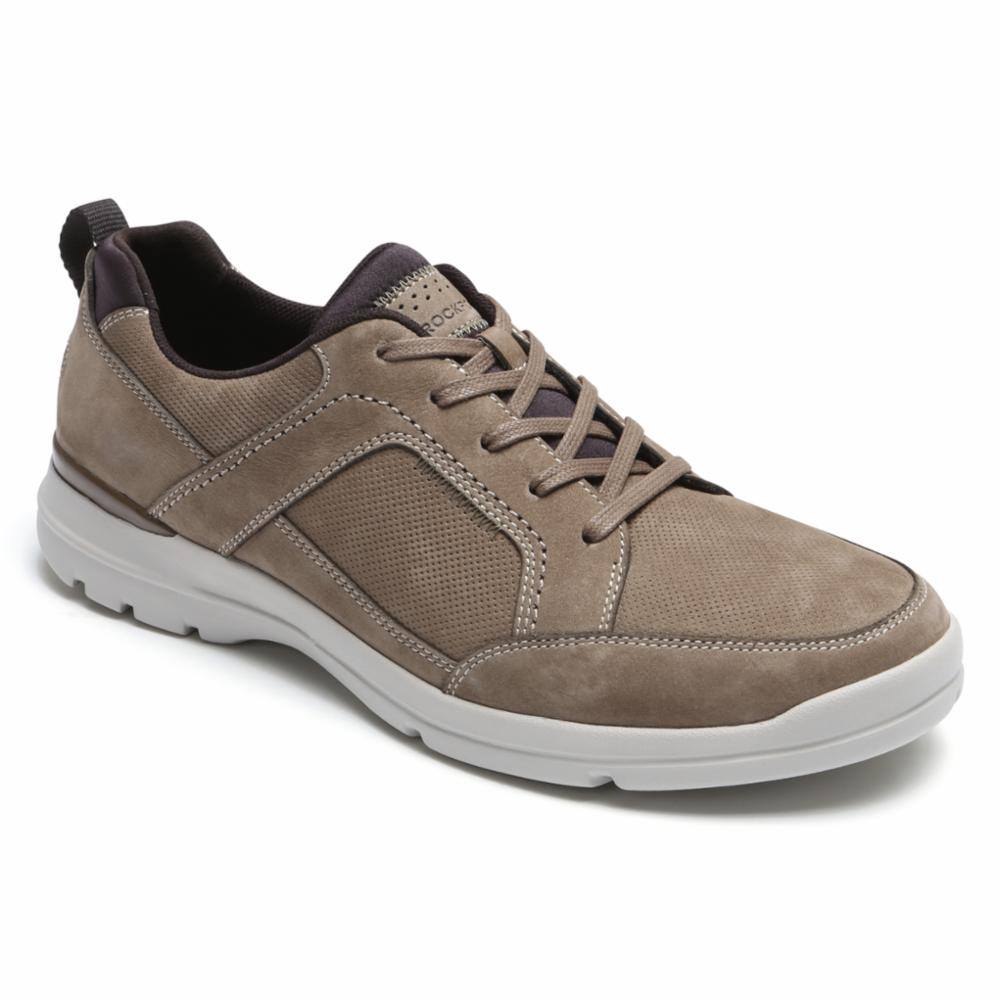 Rockport Men CITY EDGE LACE UP TAUPE/NUBUCK