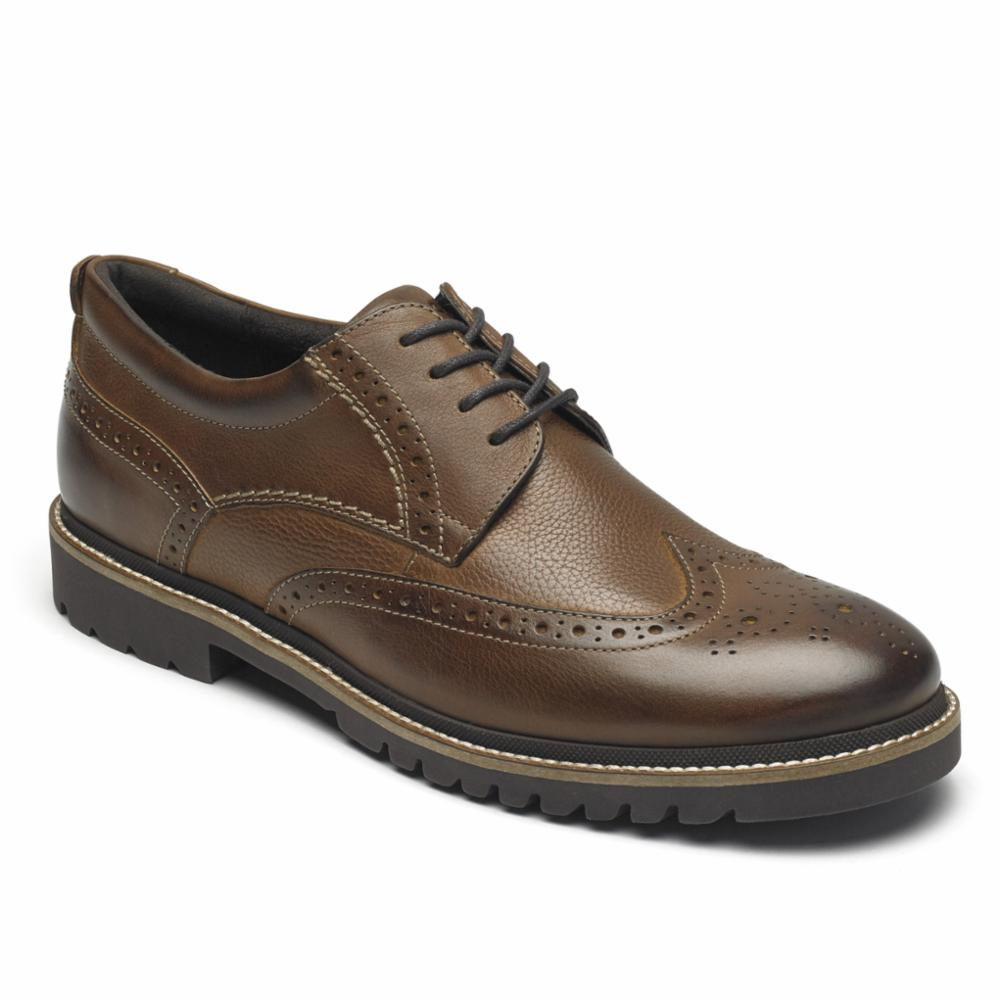Rockport Men MARSHALL WING TIP FAWN
