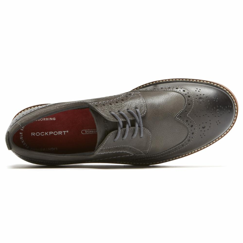 Rockport Men MARSHALL WING TIP CASTLEROCK GREY