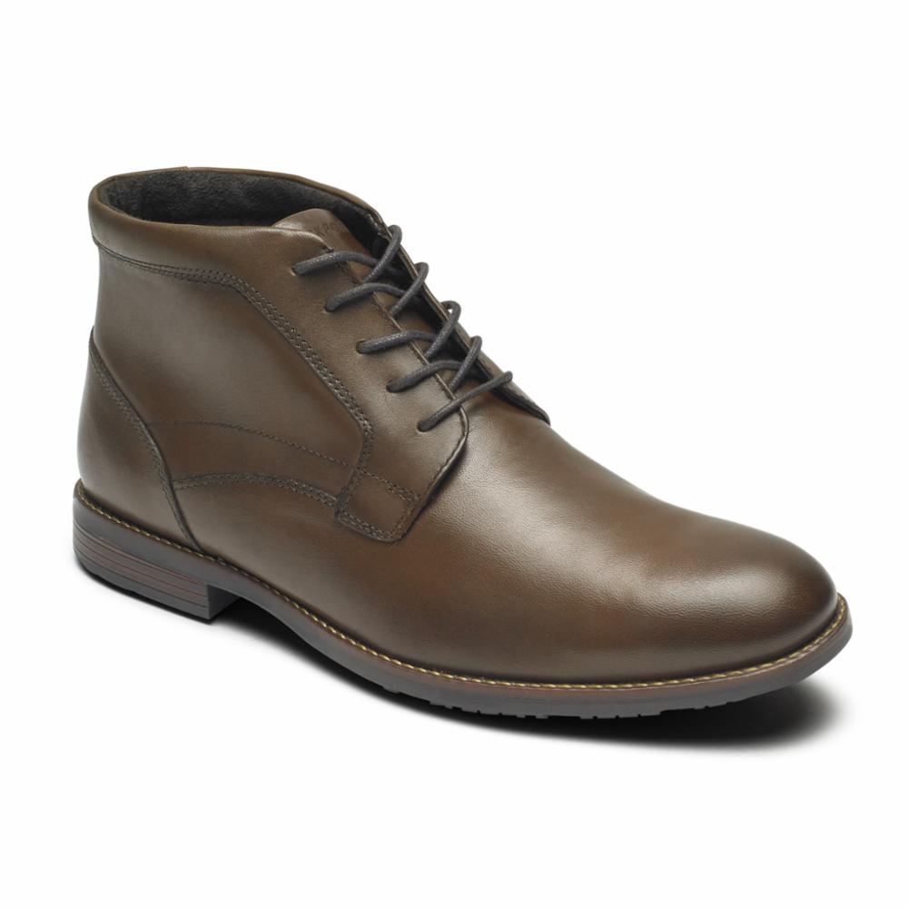 Rockport Men DUSTYN CHUKKA NEW CARAMEL